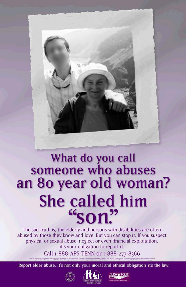 Tennessee Elder Abuse Awareness Poster, modified