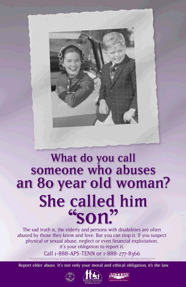 Tennessee Elder Abuse Awareness Poster