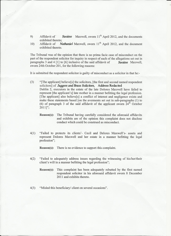 Page 2 of Trubunal decision